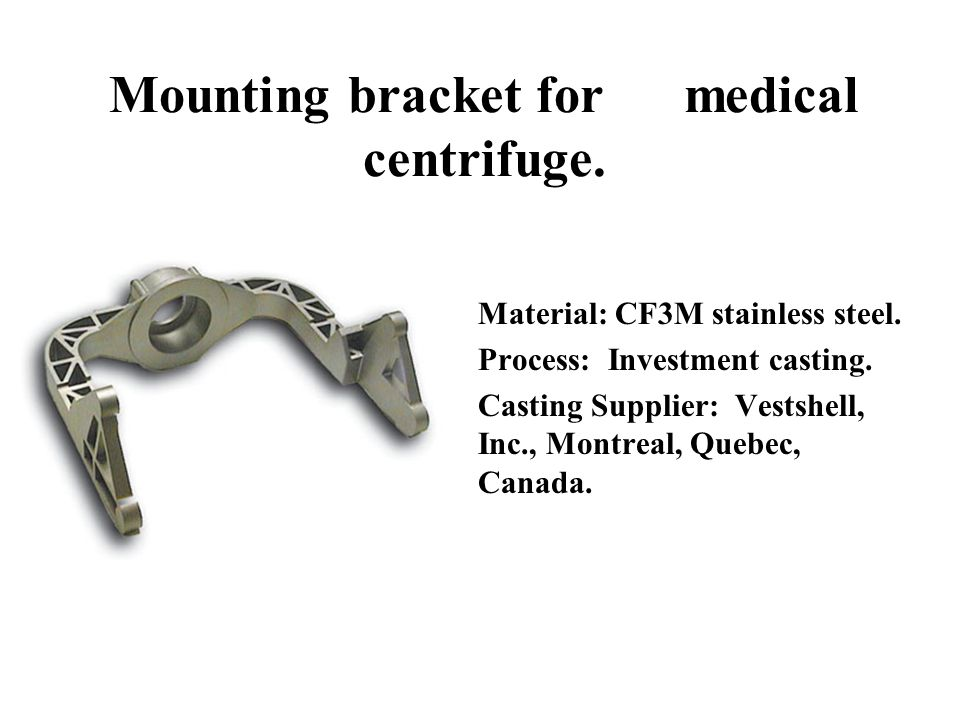 Mounting bracket for medical centrifuge.
