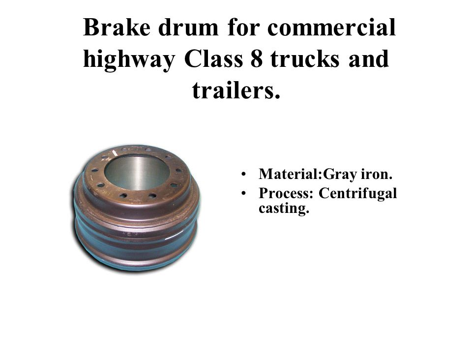 Brake drum for commercial highway Class 8 trucks and trailers.