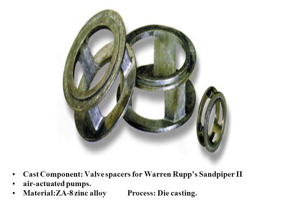 Cast Component: Valve spacers for Warren Rupp's Sandpiper II