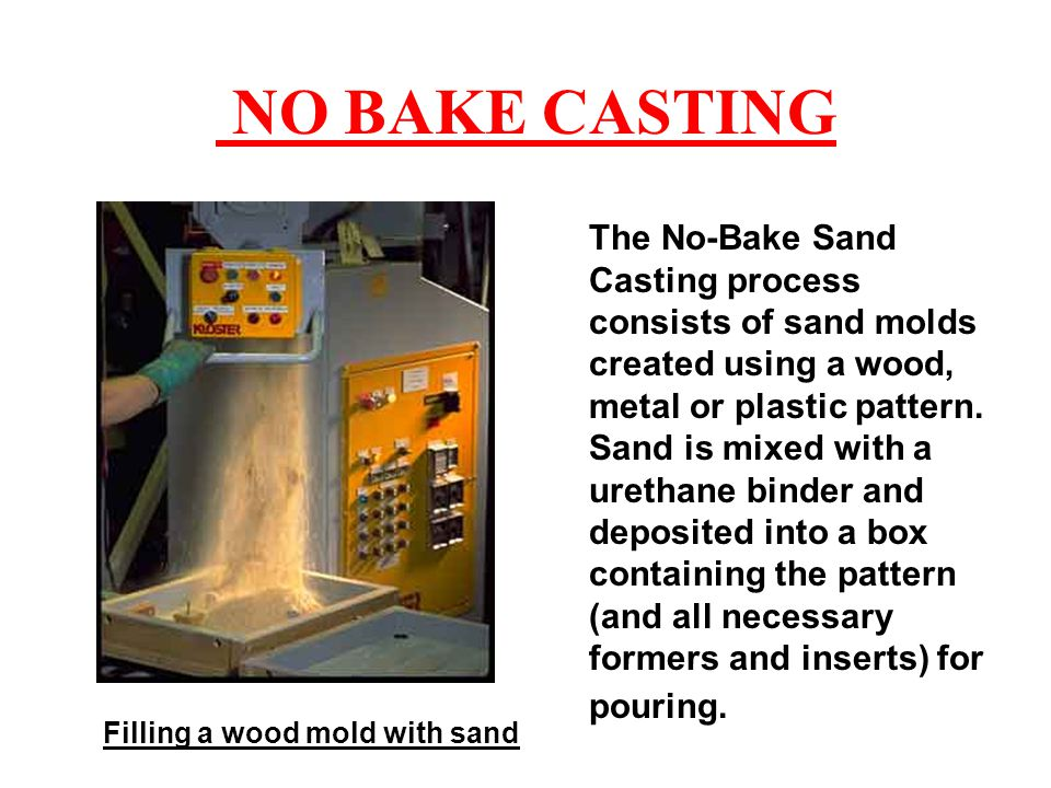 Filling a wood mold with sand