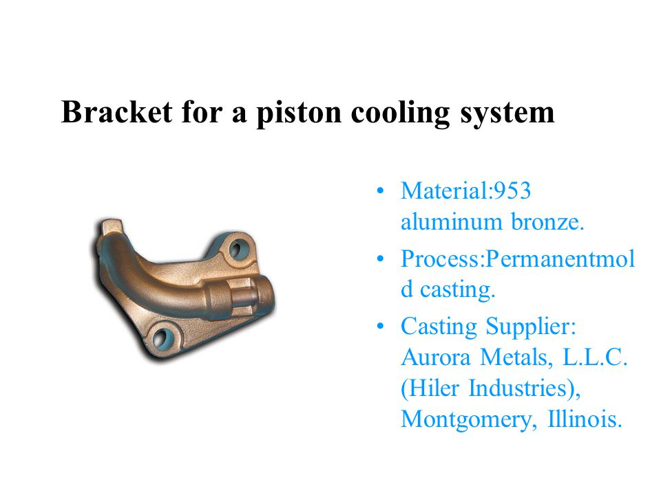 Bracket for a piston cooling system