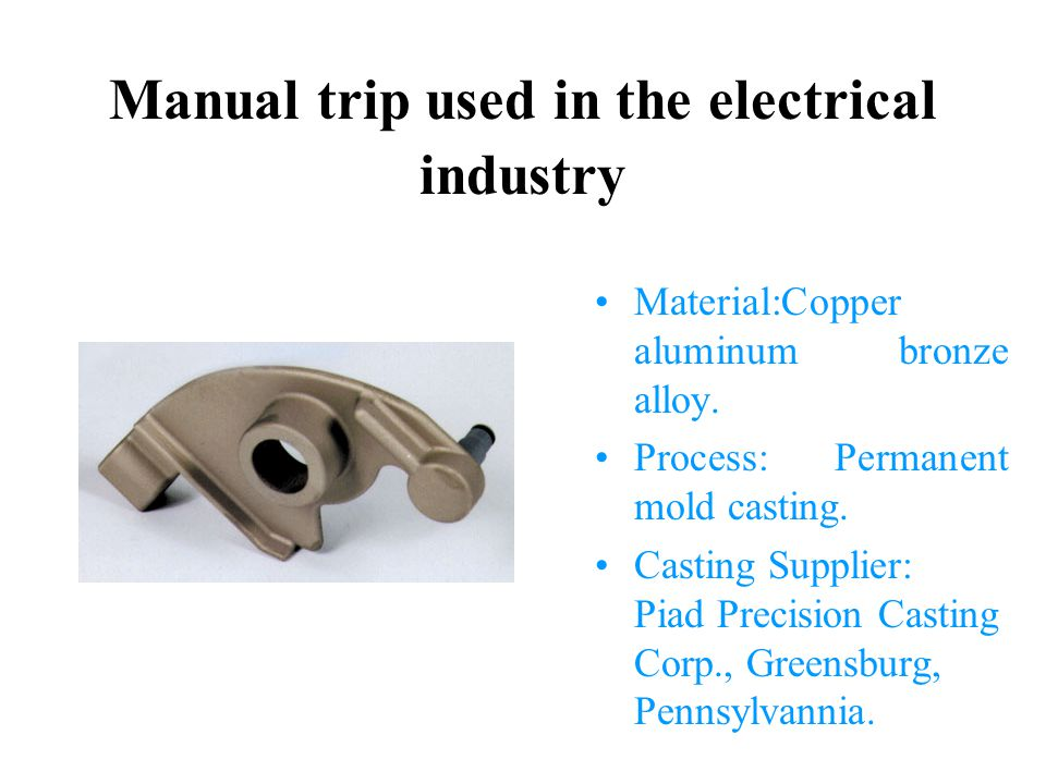 Manual trip used in the electrical industry