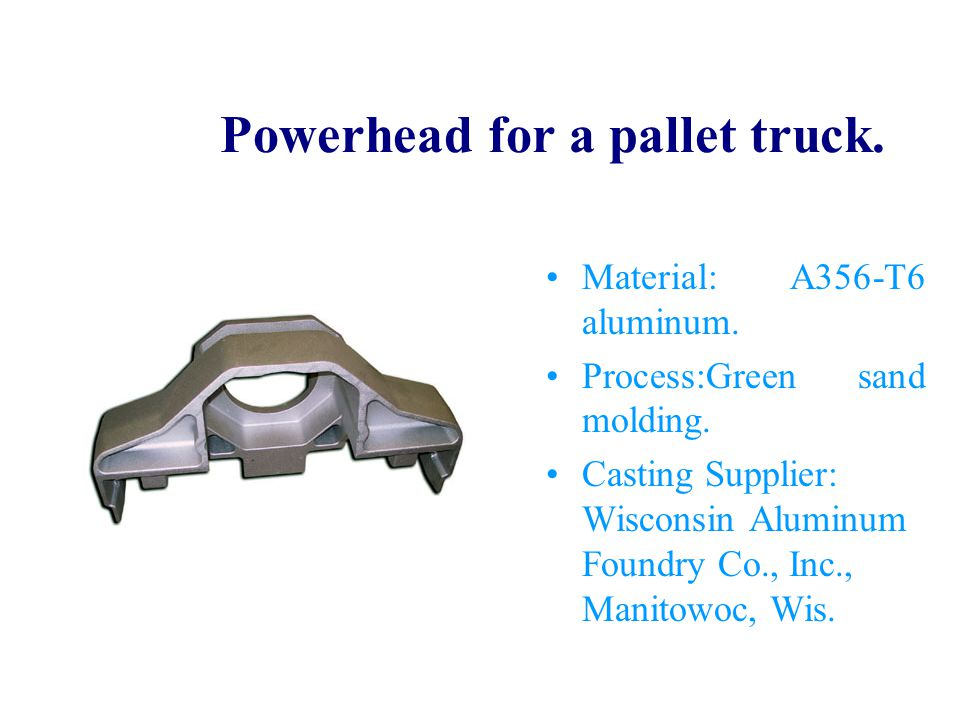 Powerhead for a pallet truck.