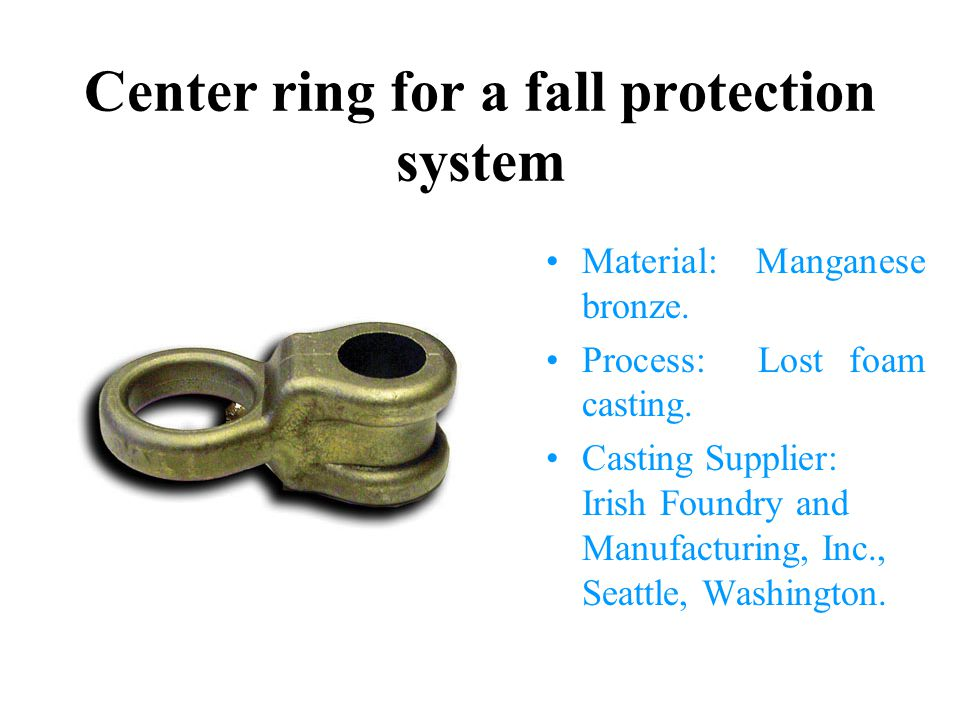 Center ring for a fall protection system