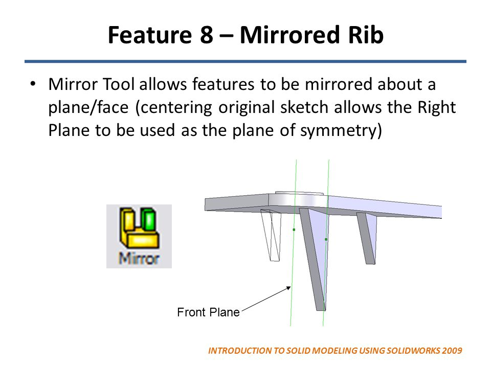 Feature 8 – Mirrored Rib