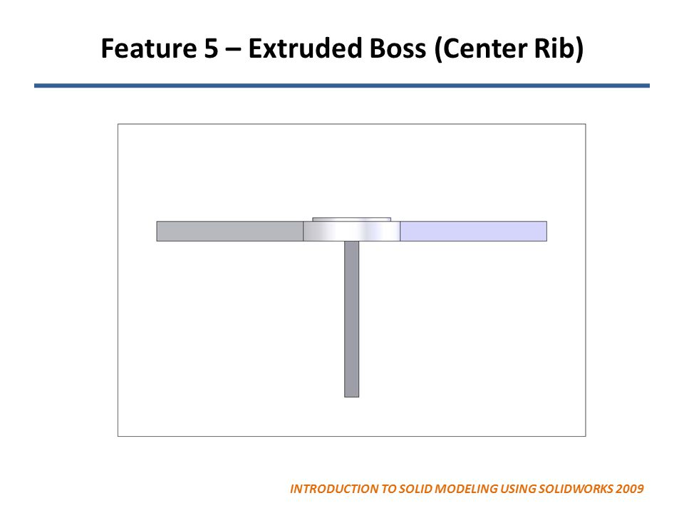 Feature 5 – Extruded Boss (Center Rib)