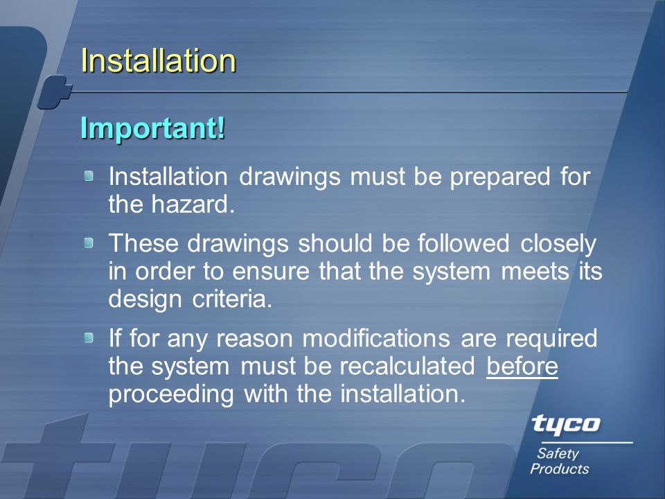 Installation Important!