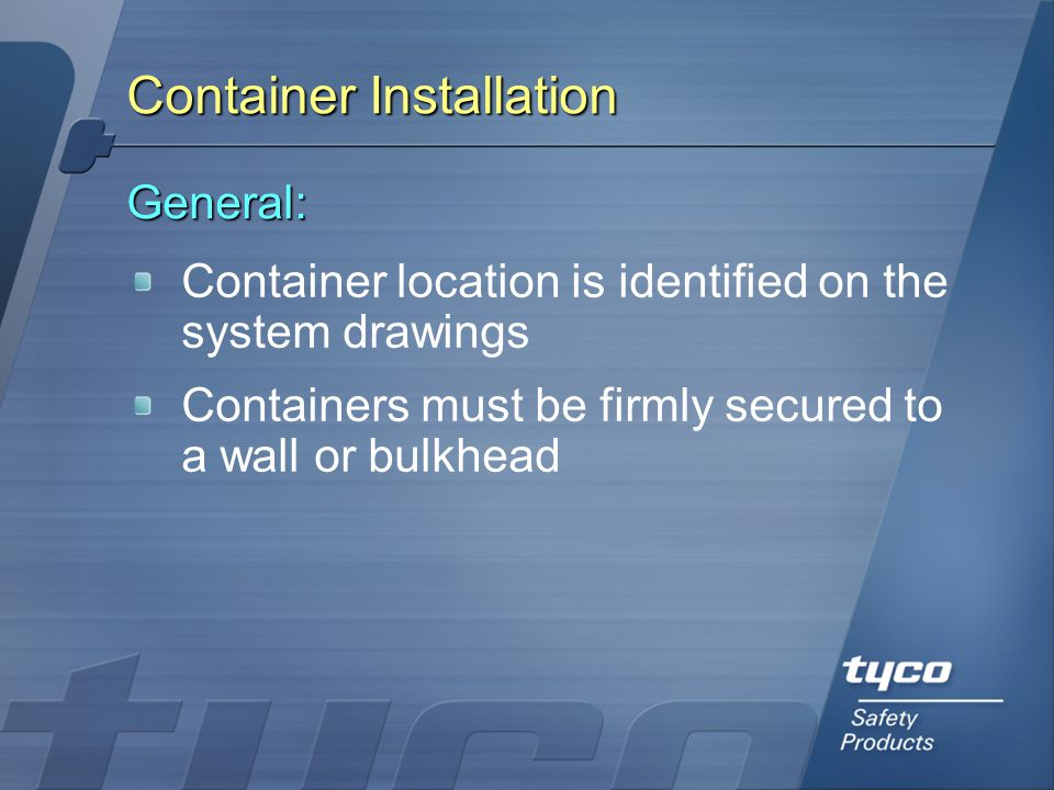 Container Installation