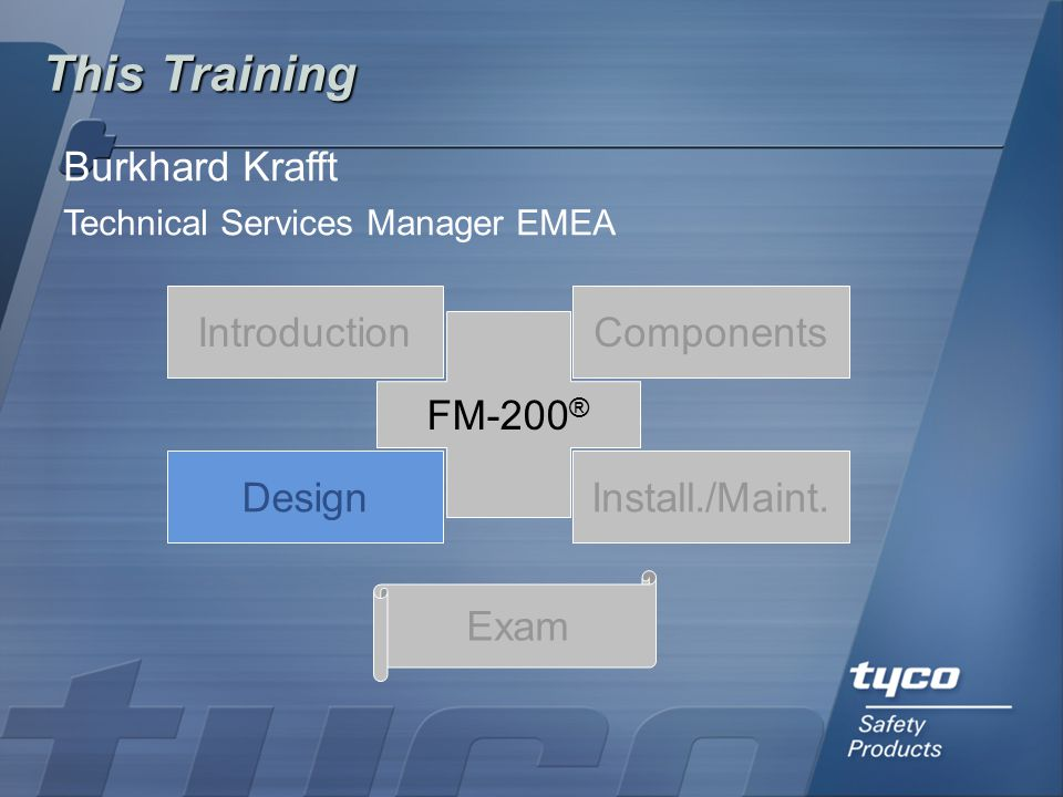 This Training Burkhard Krafft Introduction Components FM-200® Design