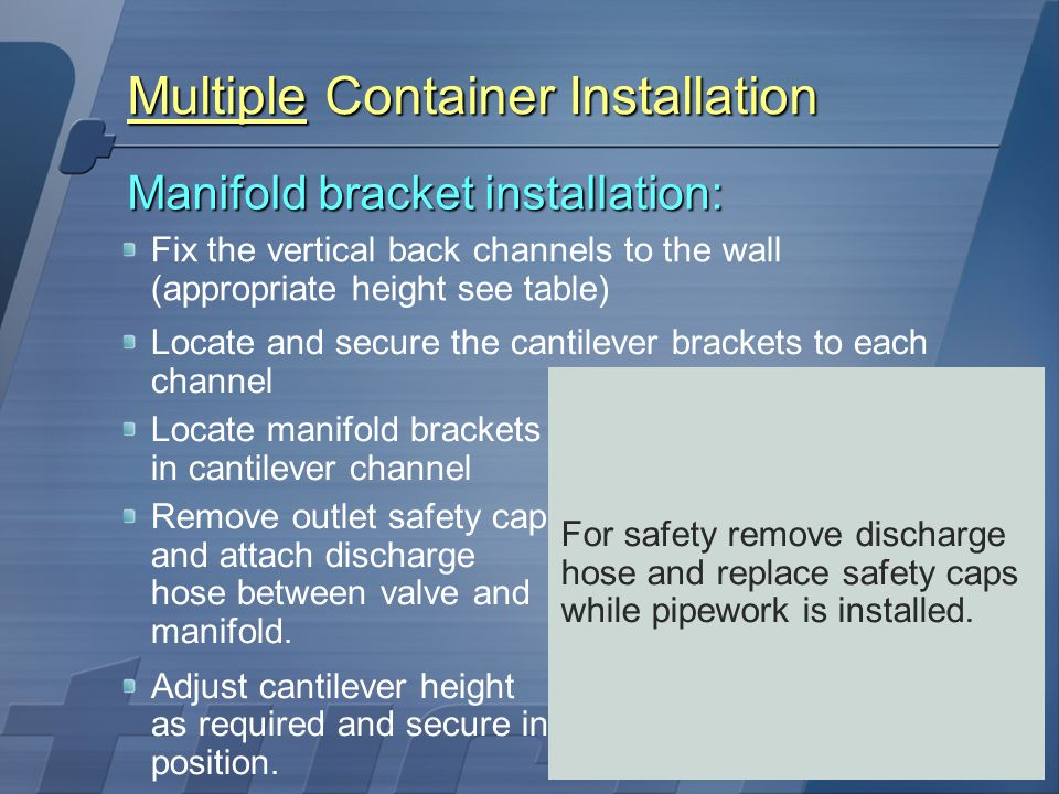 Multiple Container Installation