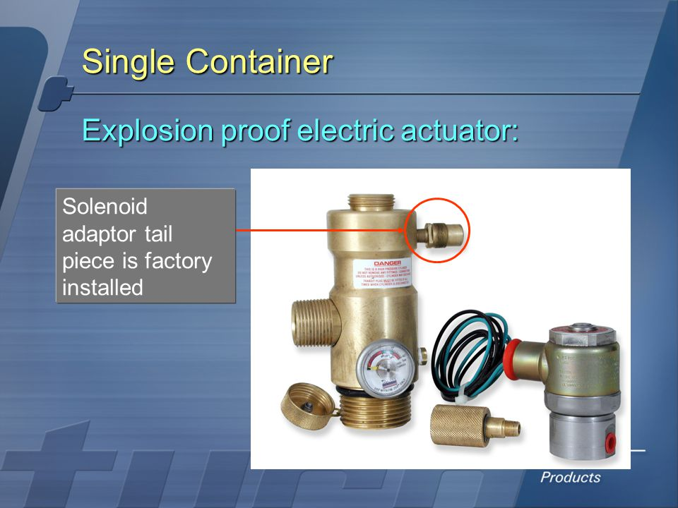 Single Container Explosion proof electric actuator: