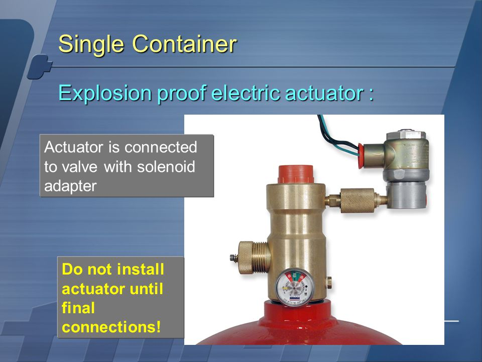 Single Container Explosion proof electric actuator :