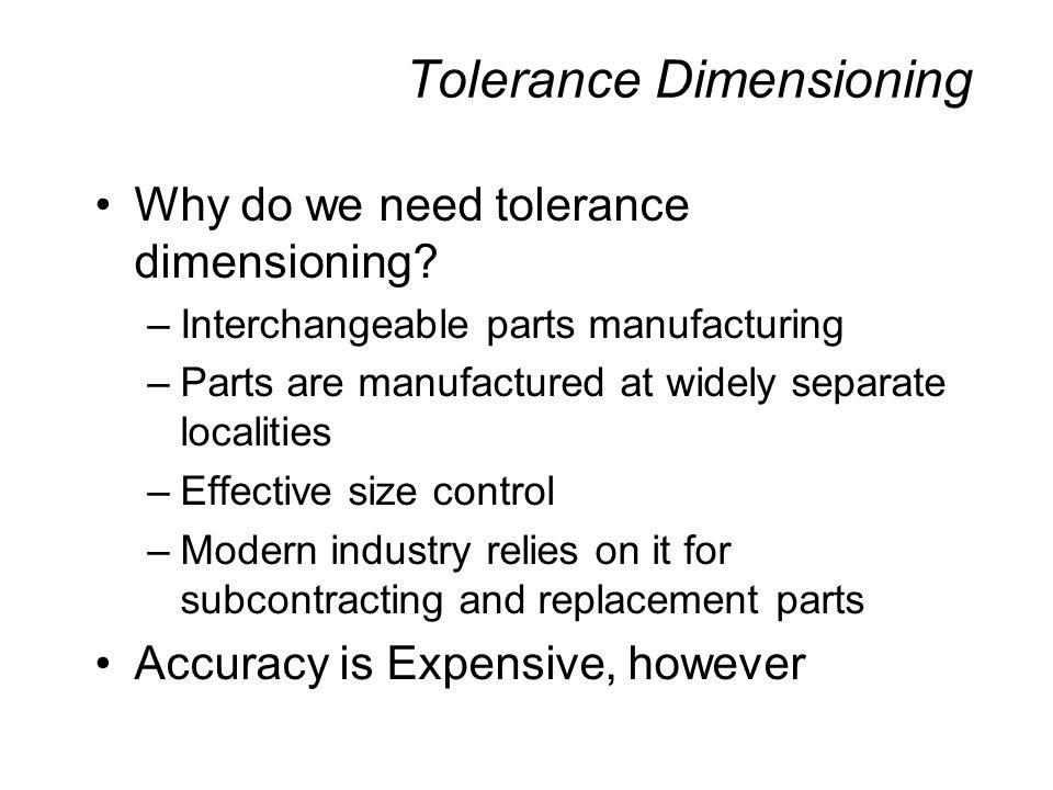 Tolerance Dimensioning