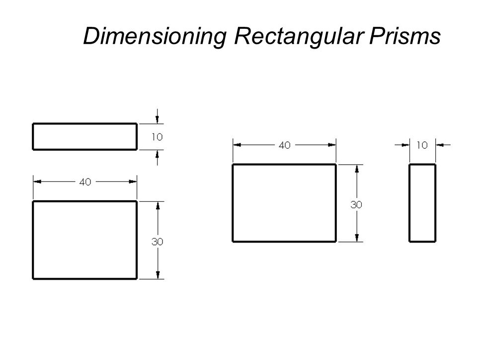 Dimensioning Rectangular Prisms