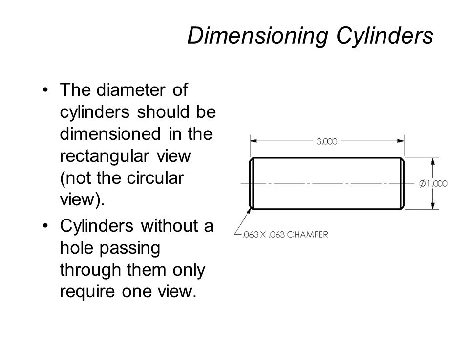 Dimensioning Cylinders
