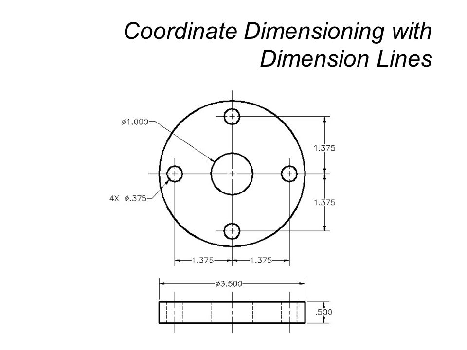 Coordinate Dimensioning with Dimension Lines