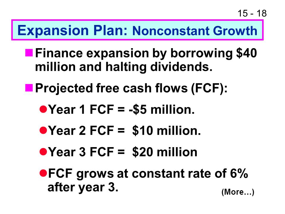 Expansion Plan: Nonconstant Growth