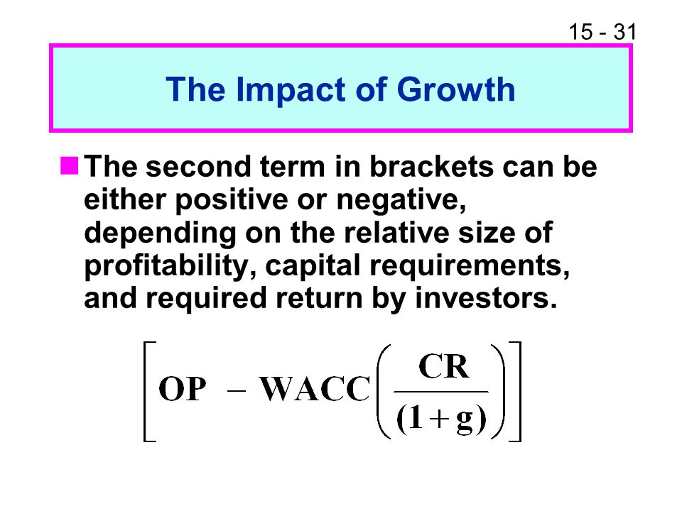 The Impact of Growth