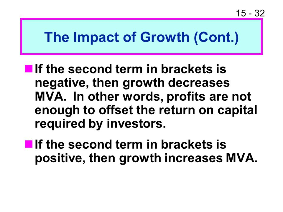 The Impact of Growth (Cont.)