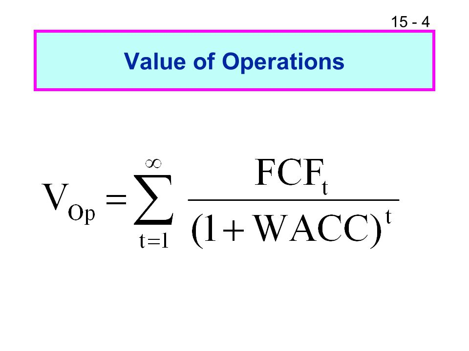 Value of Operations