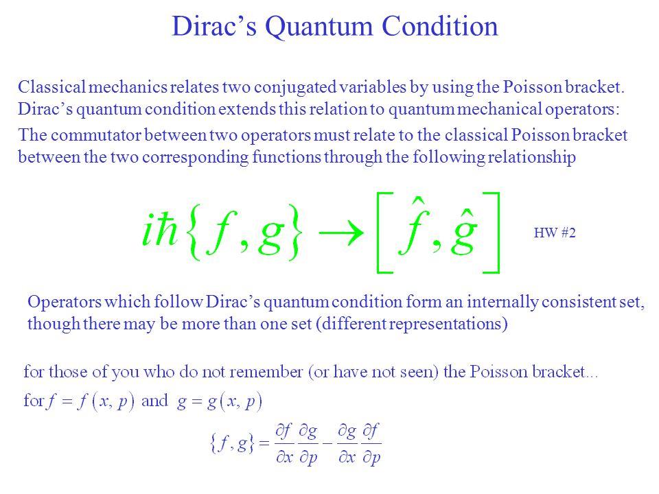 Dirac's Quantum Condition