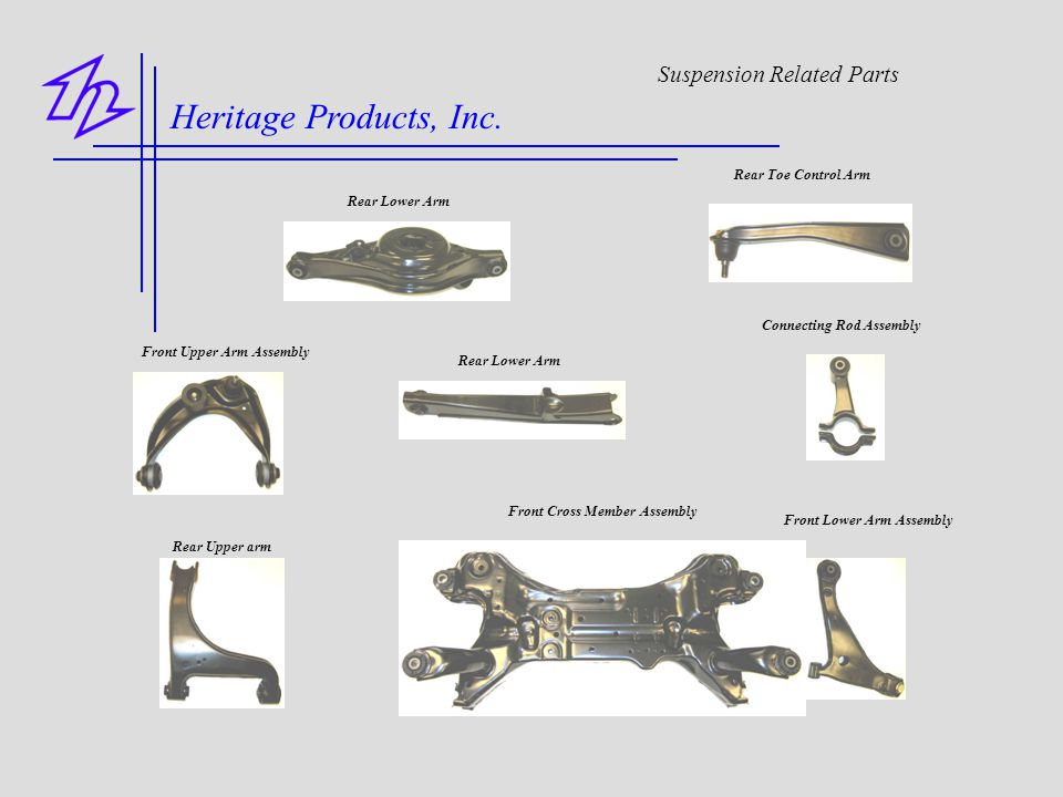Heritage Products, Inc. Suspension Related Parts Rear Toe Control Arm