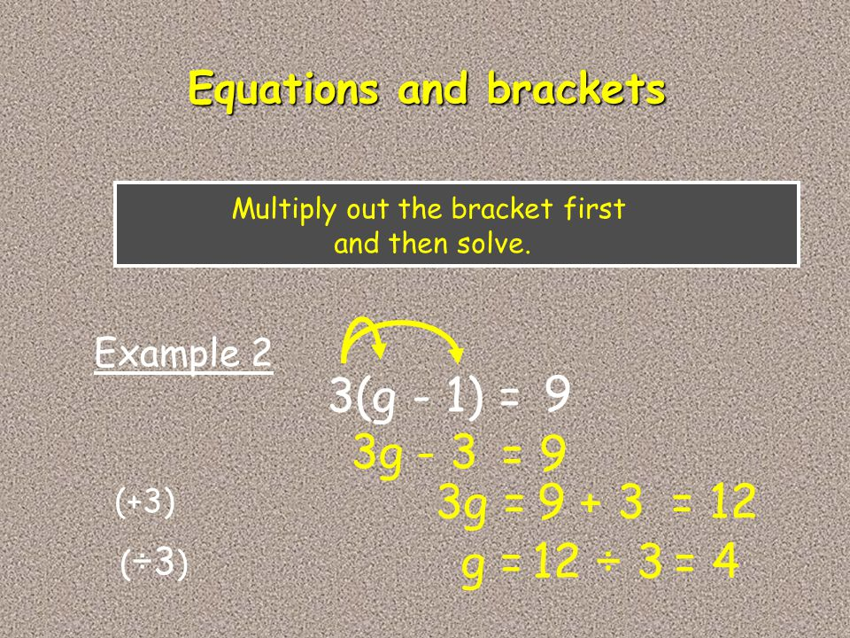 Equations and brackets