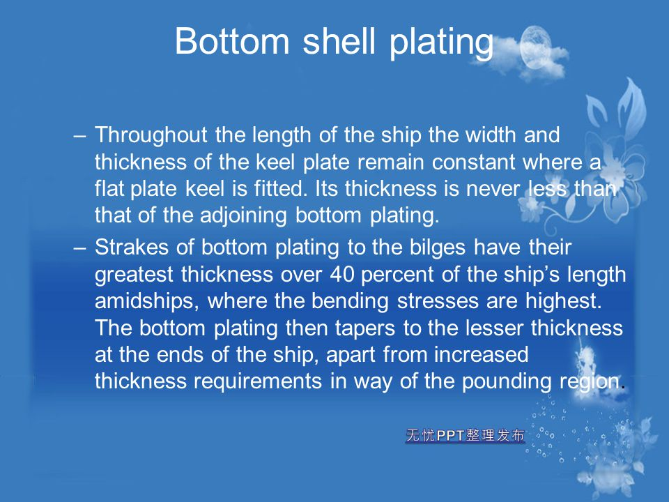 Bottom shell plating