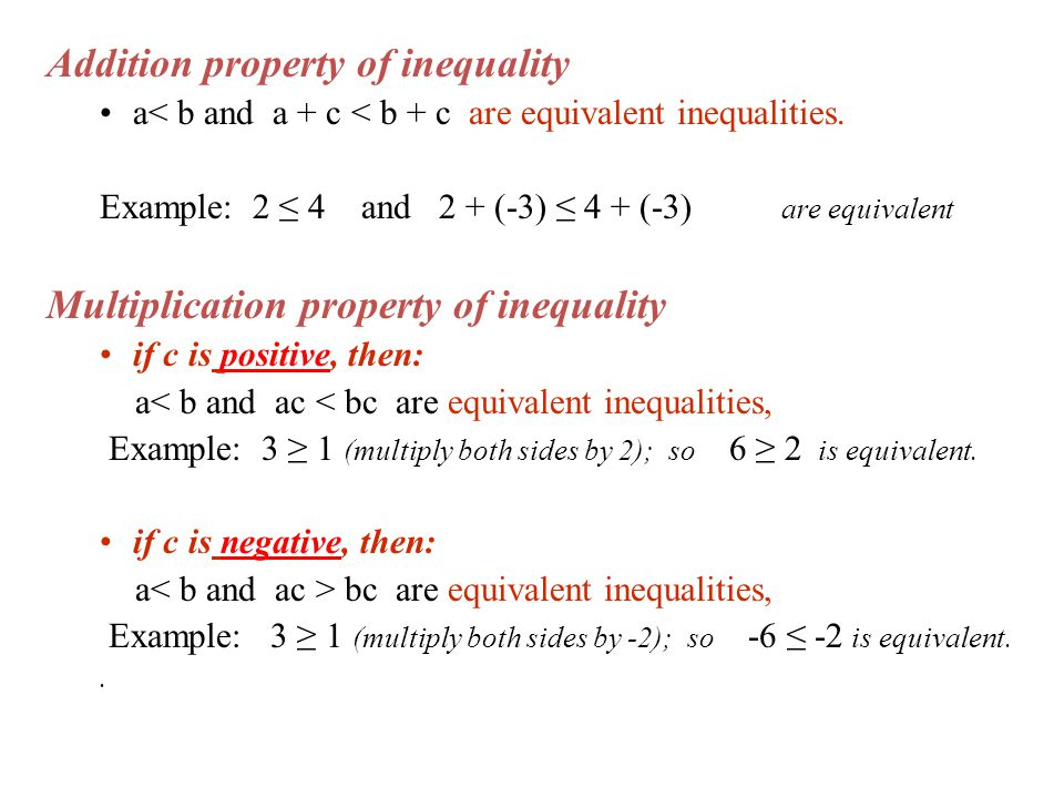 Addition property of inequality