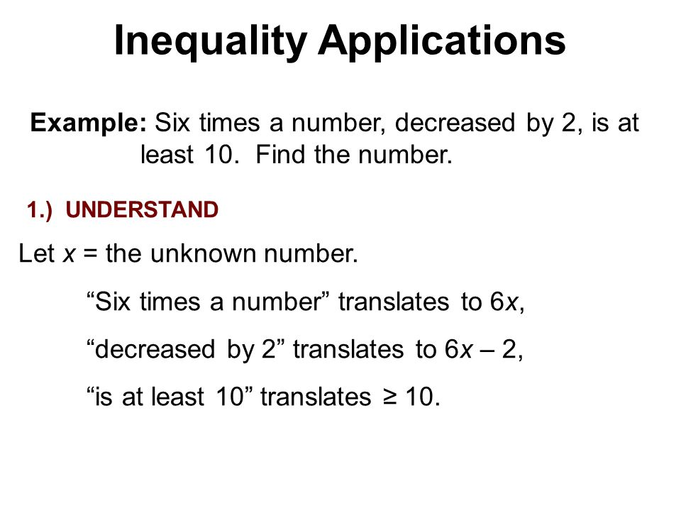 Inequality Applications