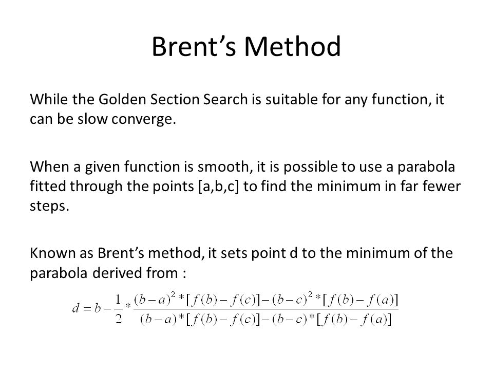 Brent's Method