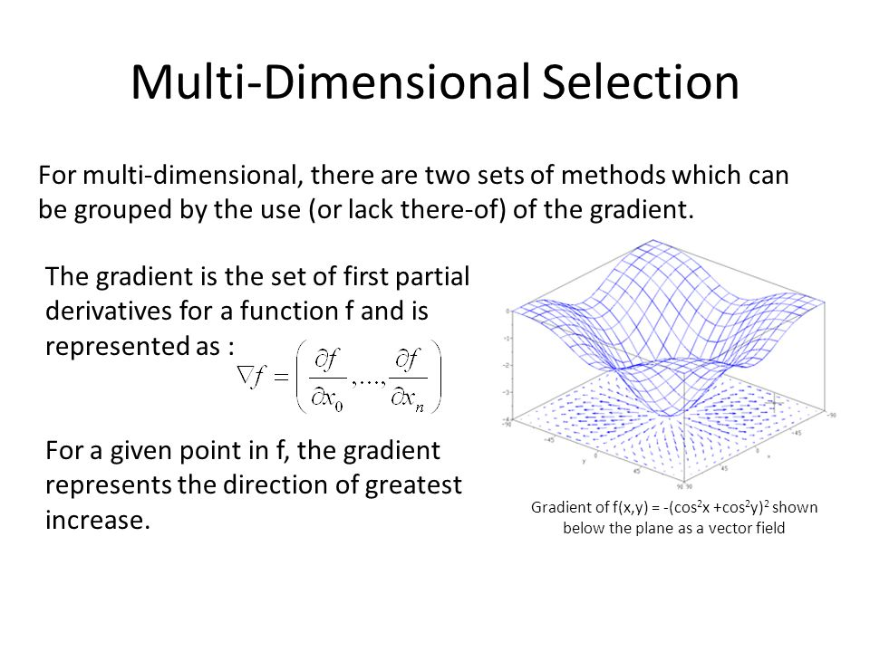 Multi-Dimensional Selection