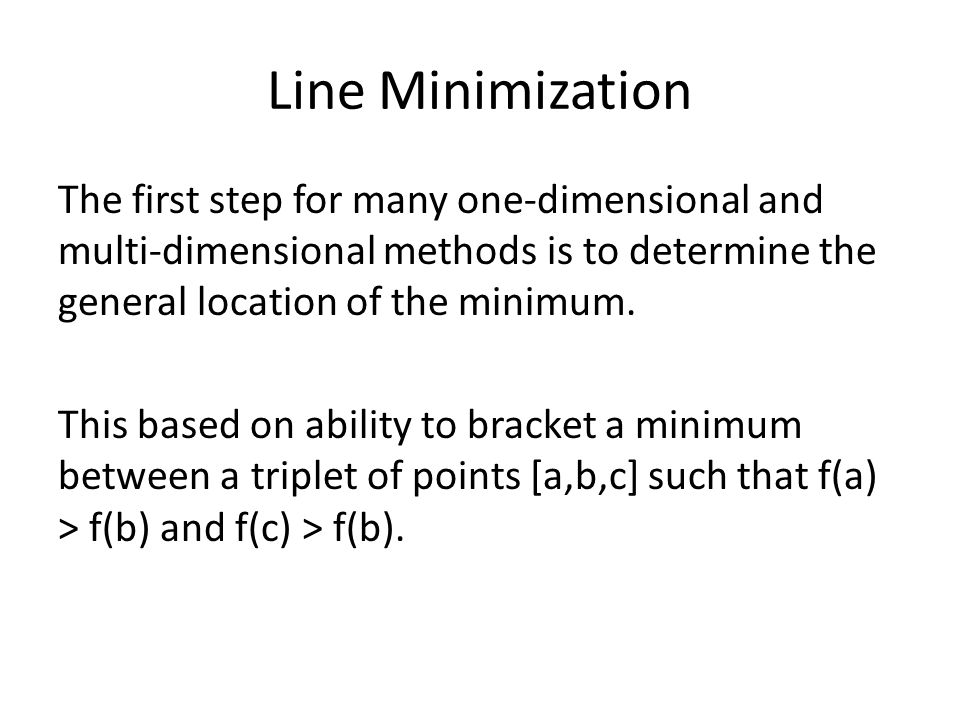 Line Minimization