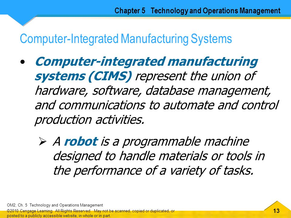 Computer-Integrated Manufacturing Systems