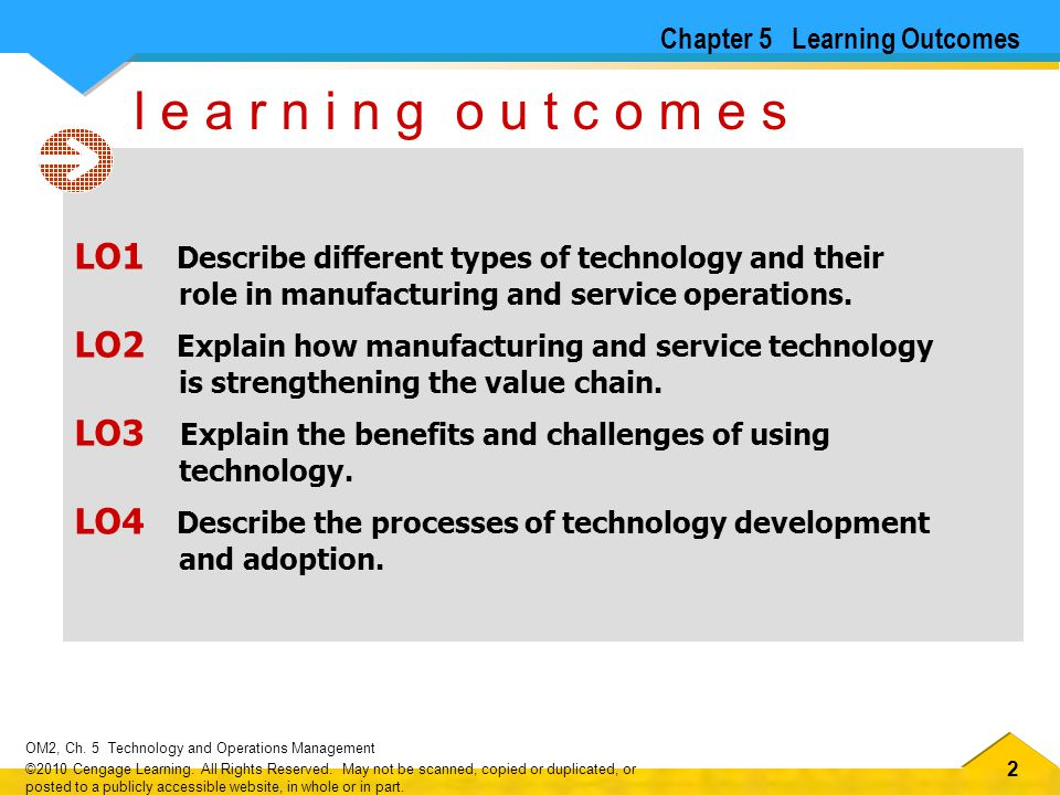 Chapter 5 Learning Outcomes