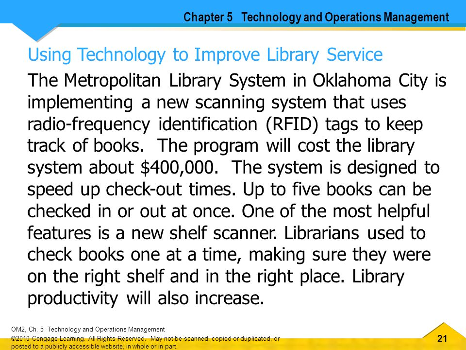 Using Technology to Improve Library Service
