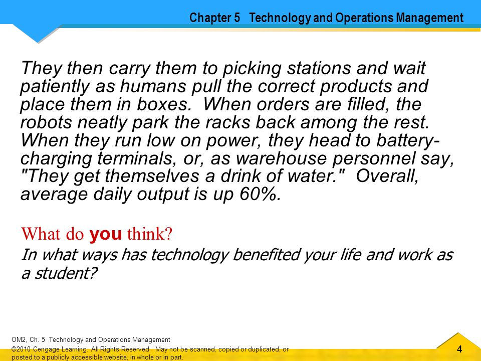 Chapter 5 Technology and Operations Management