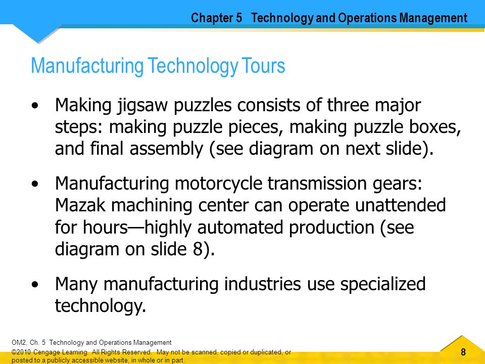 Manufacturing Technology Tours