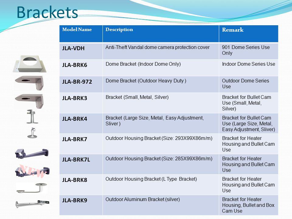 Brackets JLA-VDH JLA-BRK6 JLA-BR-972 JLA-BRK3 JLA-BRK4 JLA-BRK7