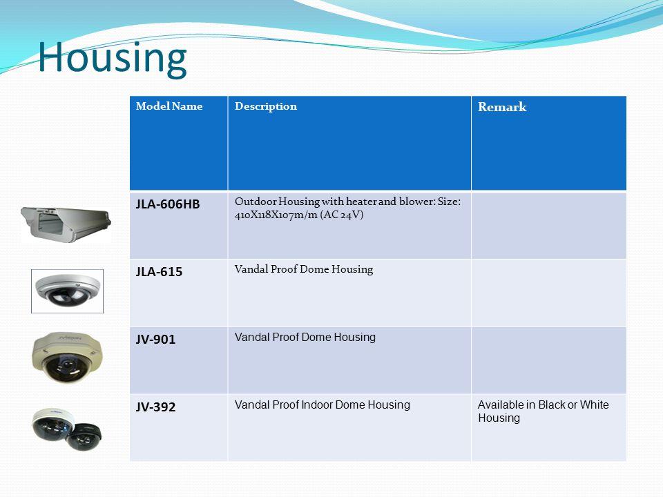 Housing JLA-606HB JLA-615 JV-901 JV-392 Remark Model Name Description