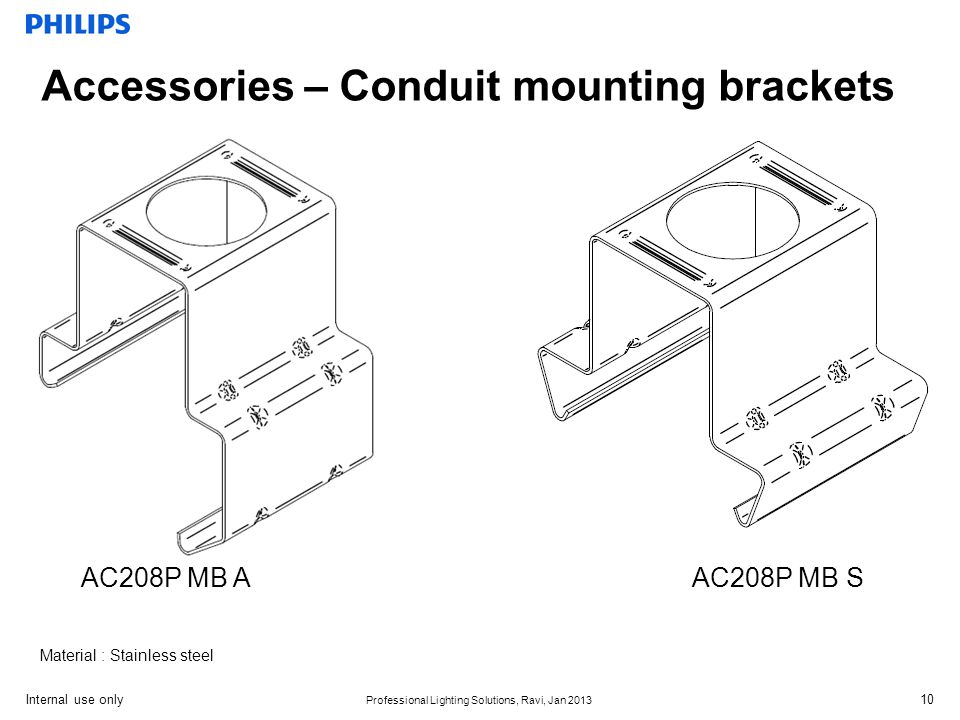 Accessories – Conduit mounting brackets