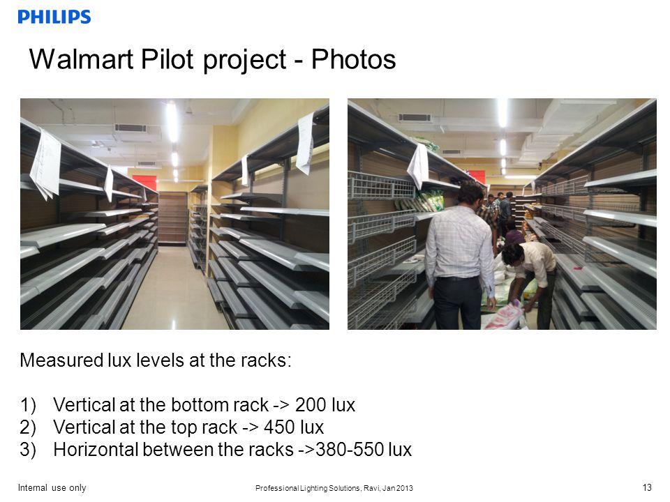 Walmart Pilot project - Photos