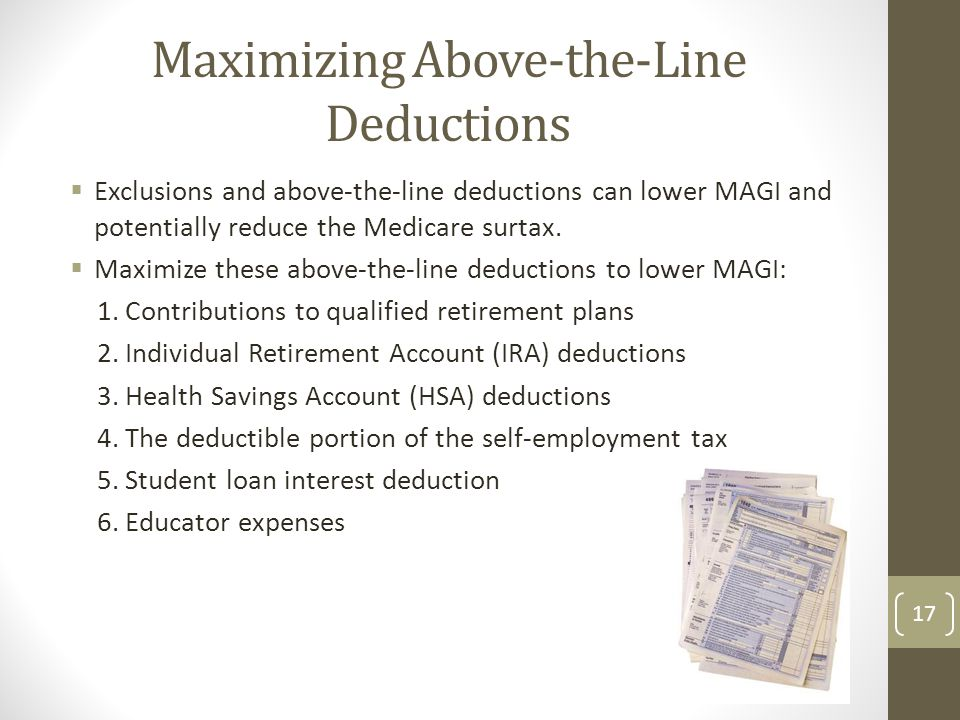 Maximizing Above-the-Line Deductions