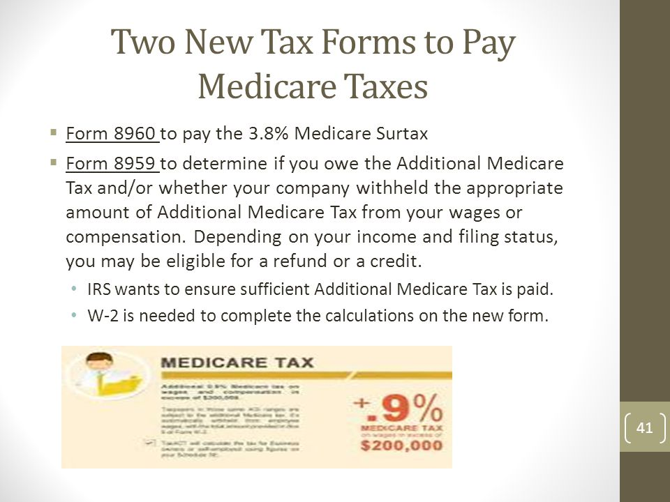Two New Tax Forms to Pay Medicare Taxes