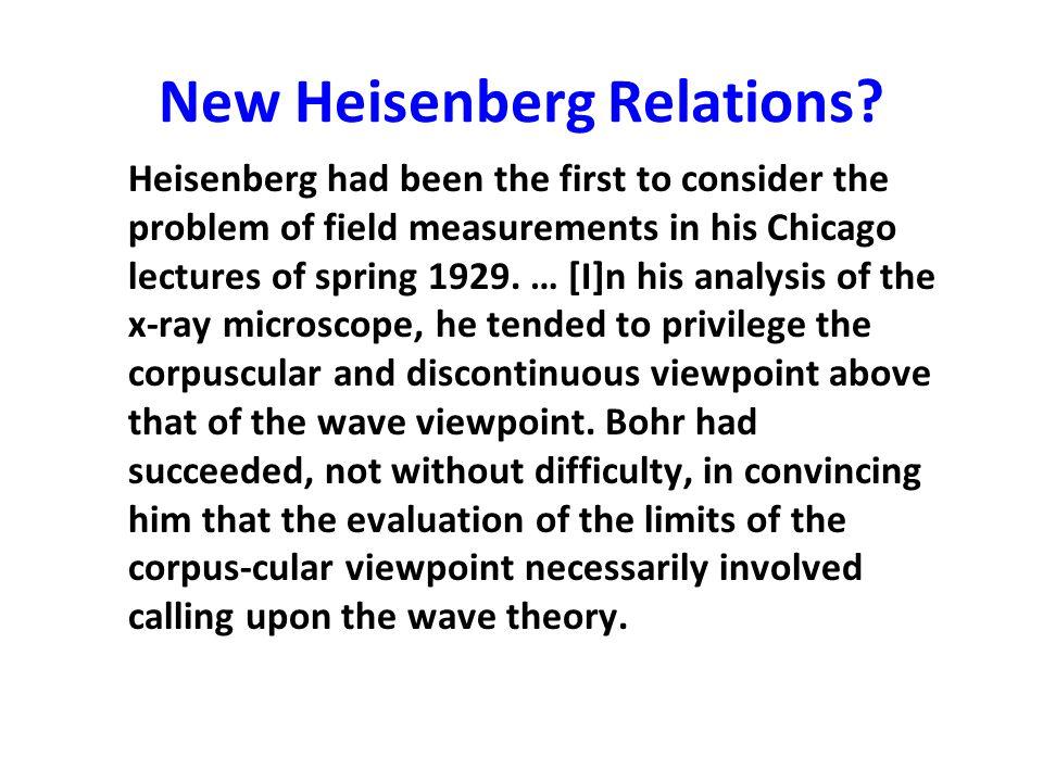 New Heisenberg Relations