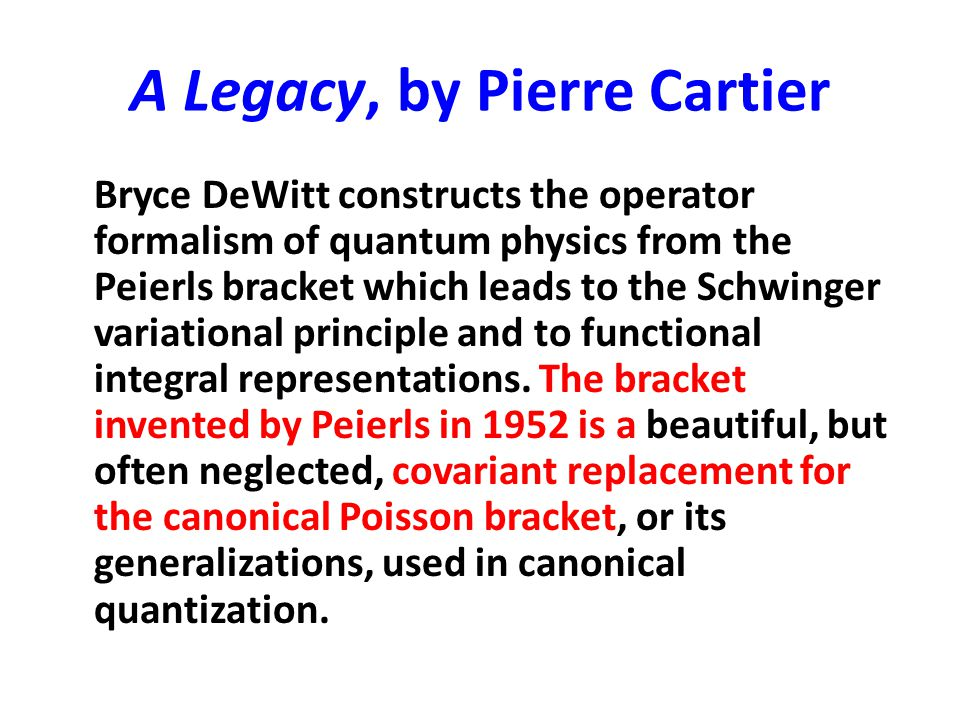 A Legacy, by Pierre Cartier