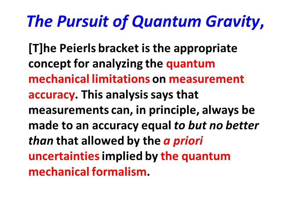 The Pursuit of Quantum Gravity,