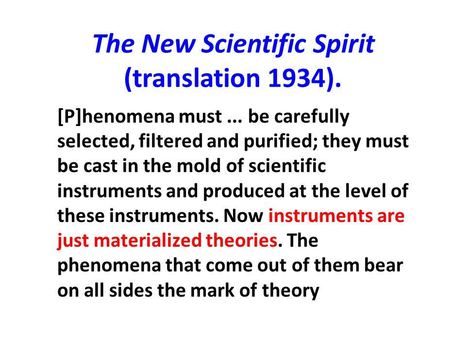 The New Scientific Spirit (translation 1934).