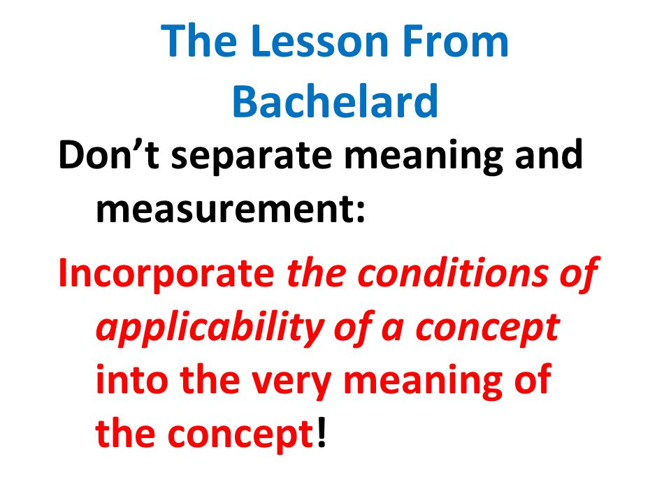 The Lesson From Bachelard
