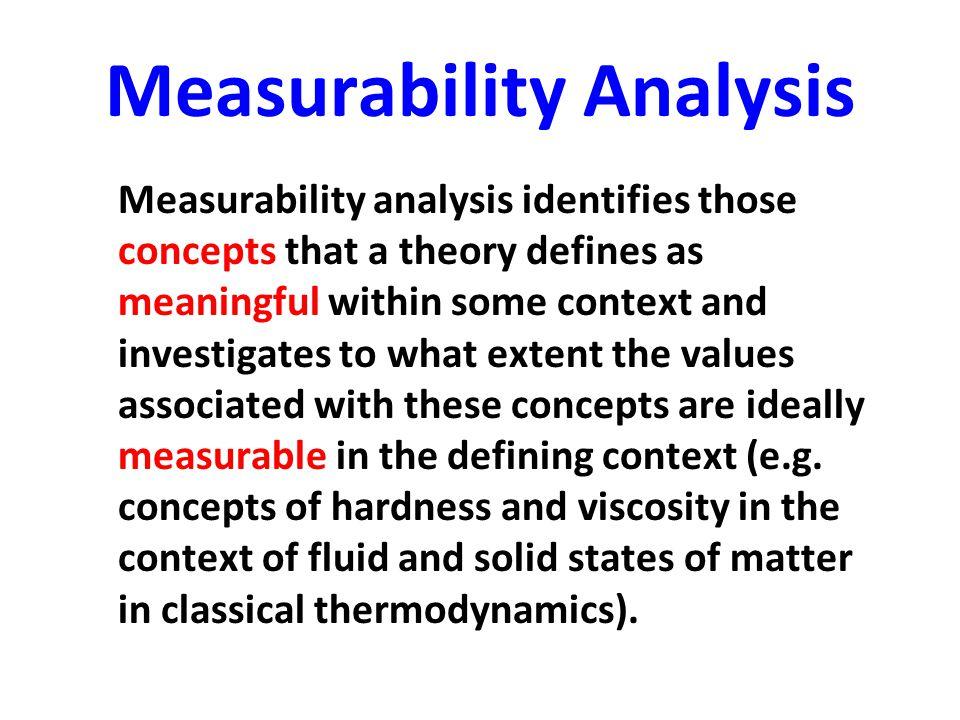 Measurability Analysis